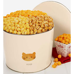 Kitty Kibble 3 Flavor Popcorn Tin