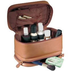 Leather Cosmetic Travel Case