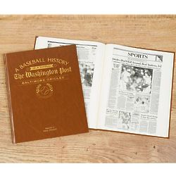 Personalized Washington Post Orioles Fan Team Book