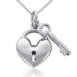 Key to My Heart Sterling Silver Pendant