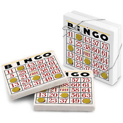 We Have a Winner Bingo Card Stone Coasters