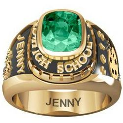 Ladies Yellow Celebrium Traditional Birthstone Class Ring