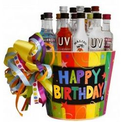 Happy Birthday Party Mini Bar Gift Basket