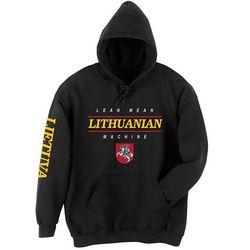 Lithuanian Lean Mean Hooded Sweatshirt