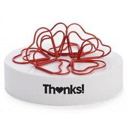 Hearts Magnetic Paper Clip Sculpture Office Toy