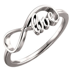 Infinity Love Ring in 14K White Gold