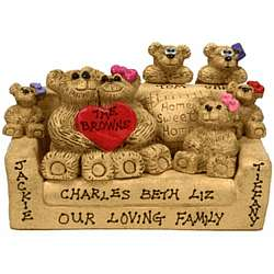 Personalized Parents and Kids Bears in Chairs