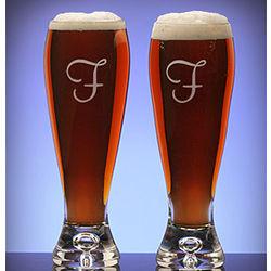 Personalized Bavaria Crystal Pilsner Beer Glasses