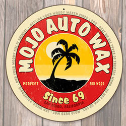 Mojo Auto Non-Distressed Round Metal Sign