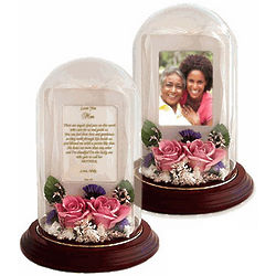 Real Preserved Roses Poetry Dome for Mom
