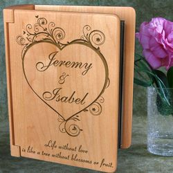 Personalized Blossoming Love Wooden Photo Album