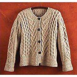 Women's Merino Wool Irish Cardigan