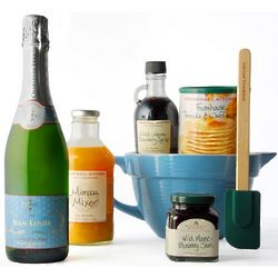 Breakfast and Bubbles Sparkling Wine Gift Basket