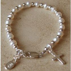 Baptism & Christening Pearl Bracelet