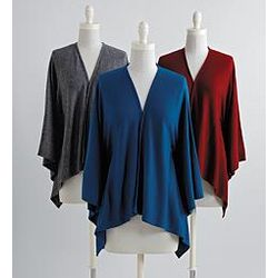 Silk and Cashmere Cardigan Shawl