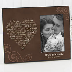Personalized Wedding Vows Picture Frame
