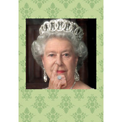 Queen Picks Her Nose Funny Birthday Card