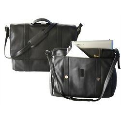 Expandable Laptop Leather Briefcase