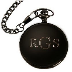 Black Stainless Steel Pocket Watch