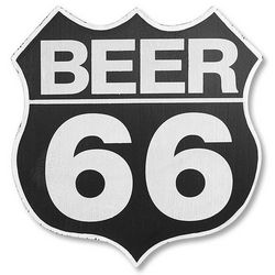 Route 66 Vintage Beer Sign