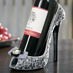Glitz Sequin High Heel Wine Holder