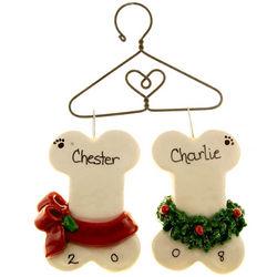 Handmade Dog Bones Christmas Ornament