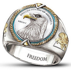Spirit of Freedom Eagle Ring