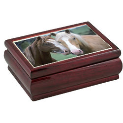 Horse Themed Large Glossy Music Box