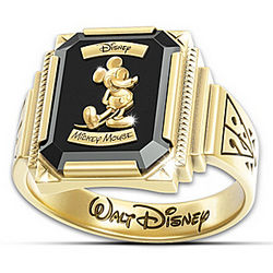 Mickey Mouse 1928 Commemorative 18 Karat Gold Plated Ring