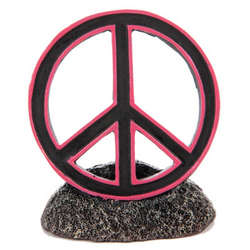 Peace Sign Aquarium Ornament