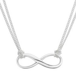 Sterling Silver Multi Chain Infinity Necklace