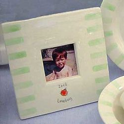 Personalized Lovebug Ceramic Frame