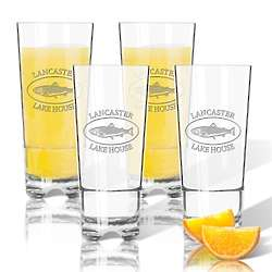 4 Personalized Unbreakable 16 Oz High Ball Glasses