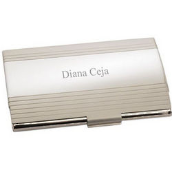 Satin Finish Business Card Holder
