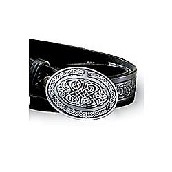 Men's Silvertone Oval Celtic Belt Buckle