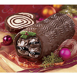 Forest Friends Chocolate Log