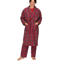 Stewart Plaid Flannel Robe for Men