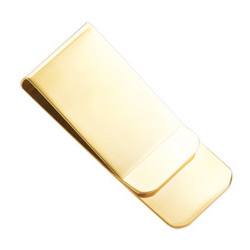 Personalized Gold Polished Money Clip
