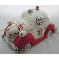 Firefighter Cookie Jar