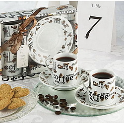 Love Cafe Mini Coffee Cup Set Favor