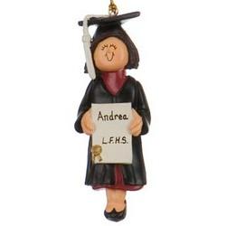 Female Graduate Personalized Christmas Ornament