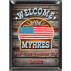 Personalized Welcome Sign