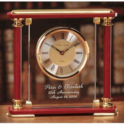 Personalized Brentwood Anniversary Mantel Clock