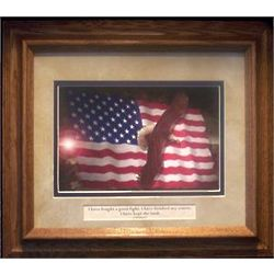 Home of the Brave Framed Print with Faith Verse