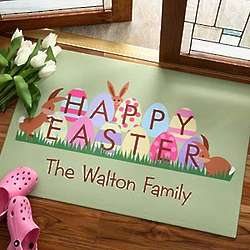 Personalized Easter Family Welcome Mat