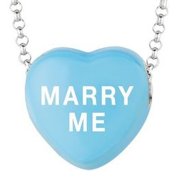 Sterling Silver Marry Me Sweethearts Necklace