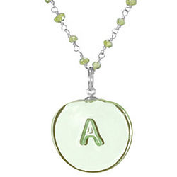 Handcrafted Glass Initial Necklace