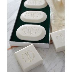 Set of Three Personalized Spa Soaps