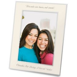 Engravable Flat Iron 8x10 Photo Frame in Champagne