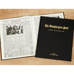 Personalized Washington Post Cubs Fan Team Book